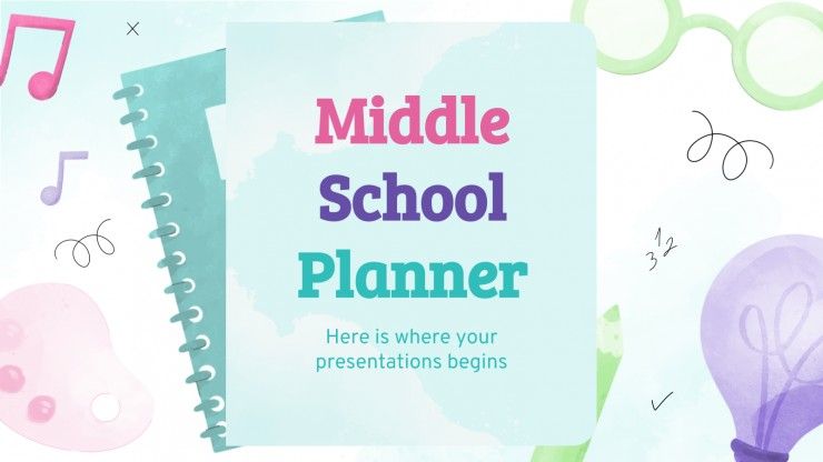Middle School Planner presentation template