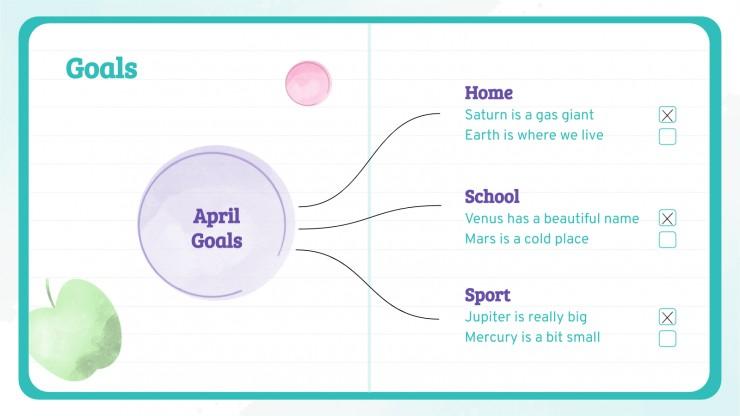 Modelo de apresentação Agenda do colégio