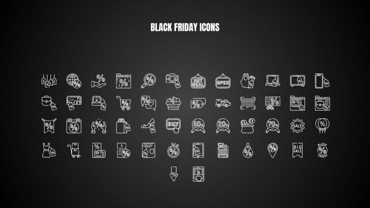 Plantilla de presentación Black Friday
