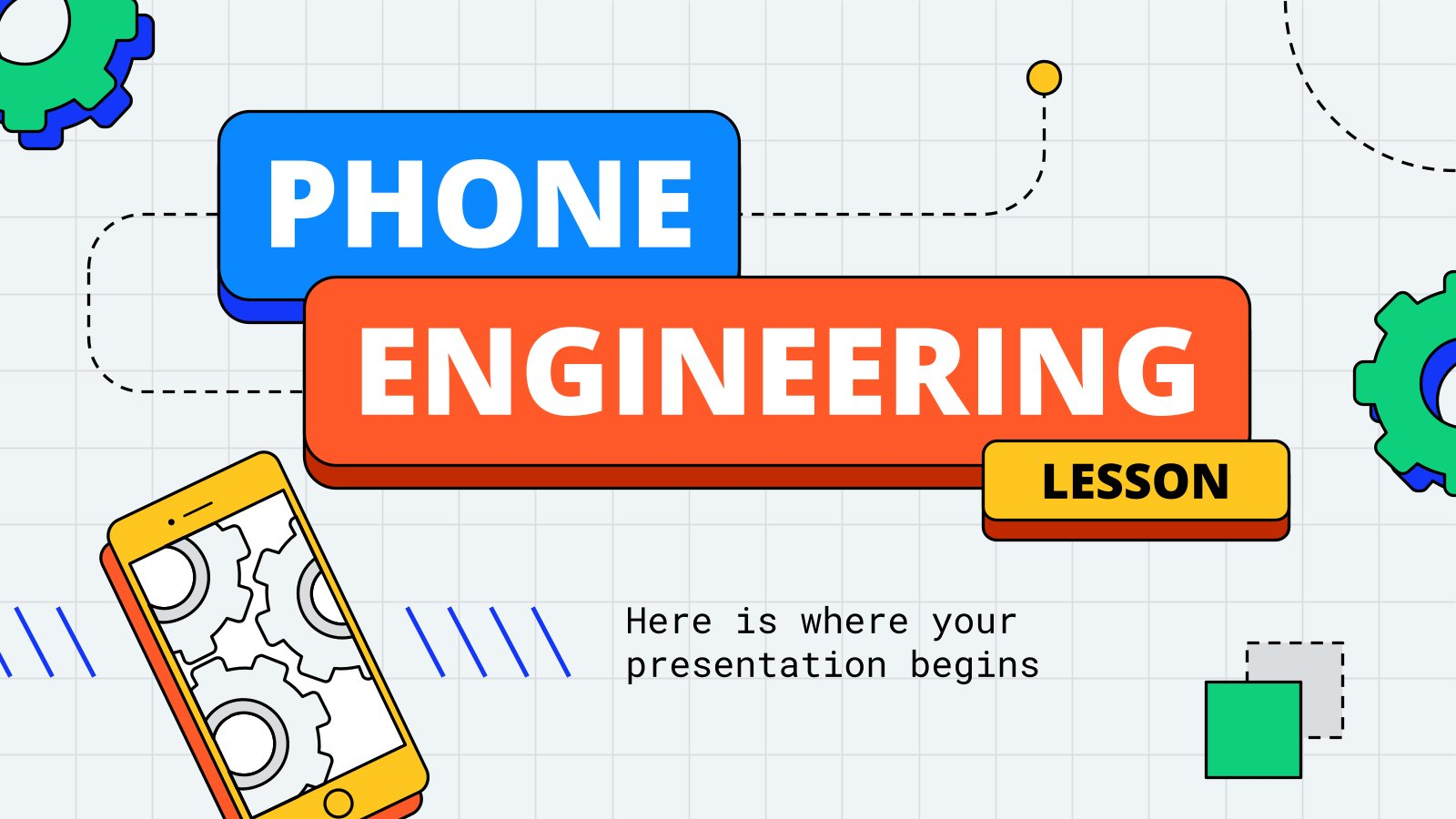 Phone Engineering Lesson presentation template