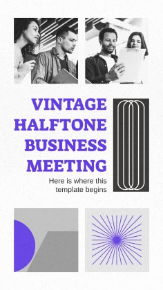 Vintage Halftone Business Meeting presentation template