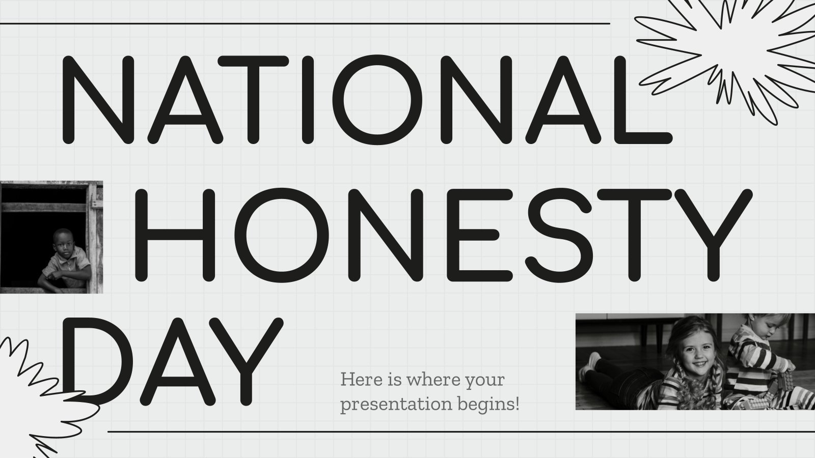 National Honesty Day presentation template
