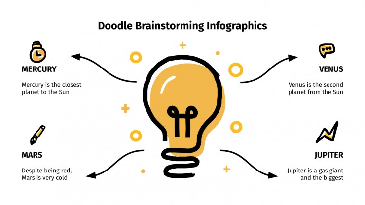 Doodle Brainstorming Infographics presentation template