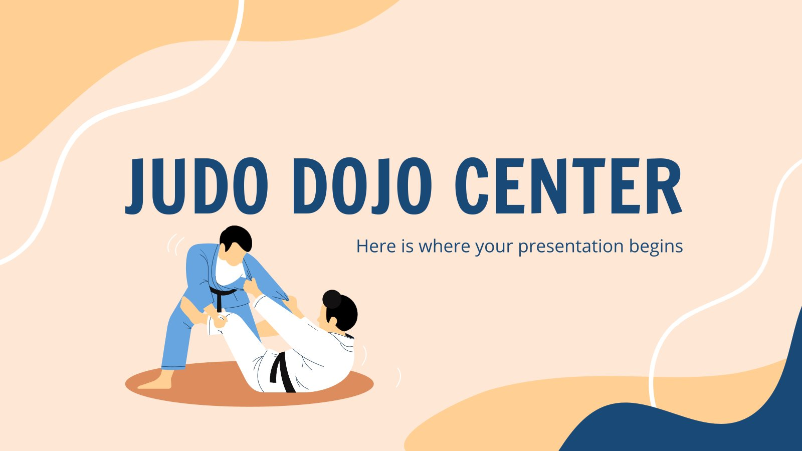 Judo Dojo Center presentation template