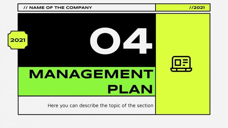 Modelo de apresentação Plano de negócios de comércio eletrônico