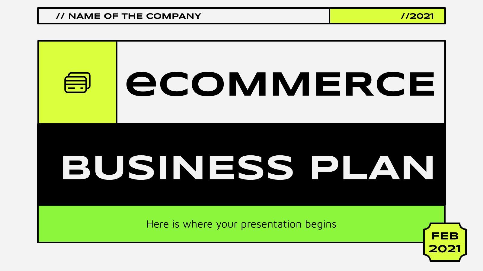 Plan d'affaires pour le commerce électronique : Modèles de présentation