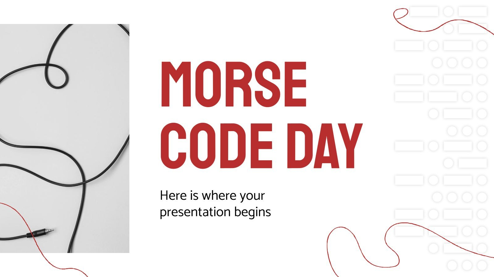 Morse Code Day presentation template