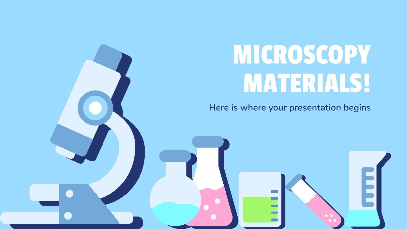 Plantilla de presentación ¡Materiales y microscopios!