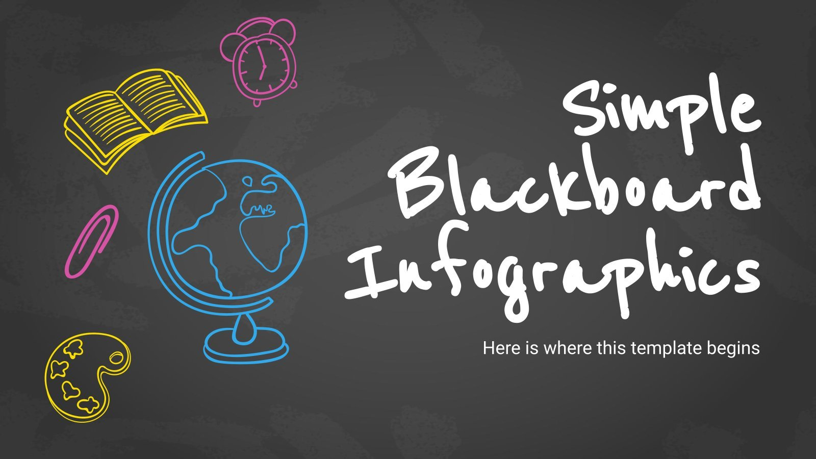 Simple Blackboard Infographics presentation template