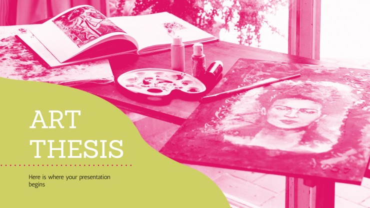 Art Thesis presentation template