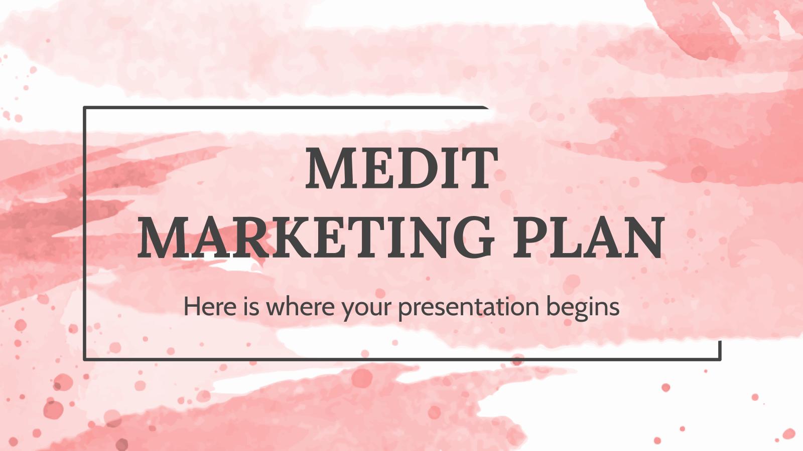 Modelo de apresentação Plano de marketing Medit