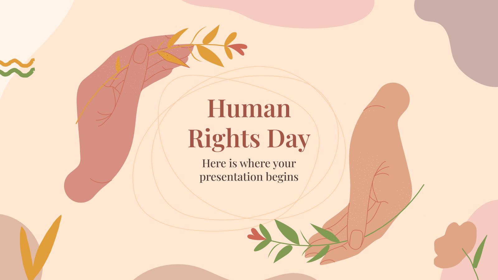Plantilla de presentación Día de los Derechos Humanos