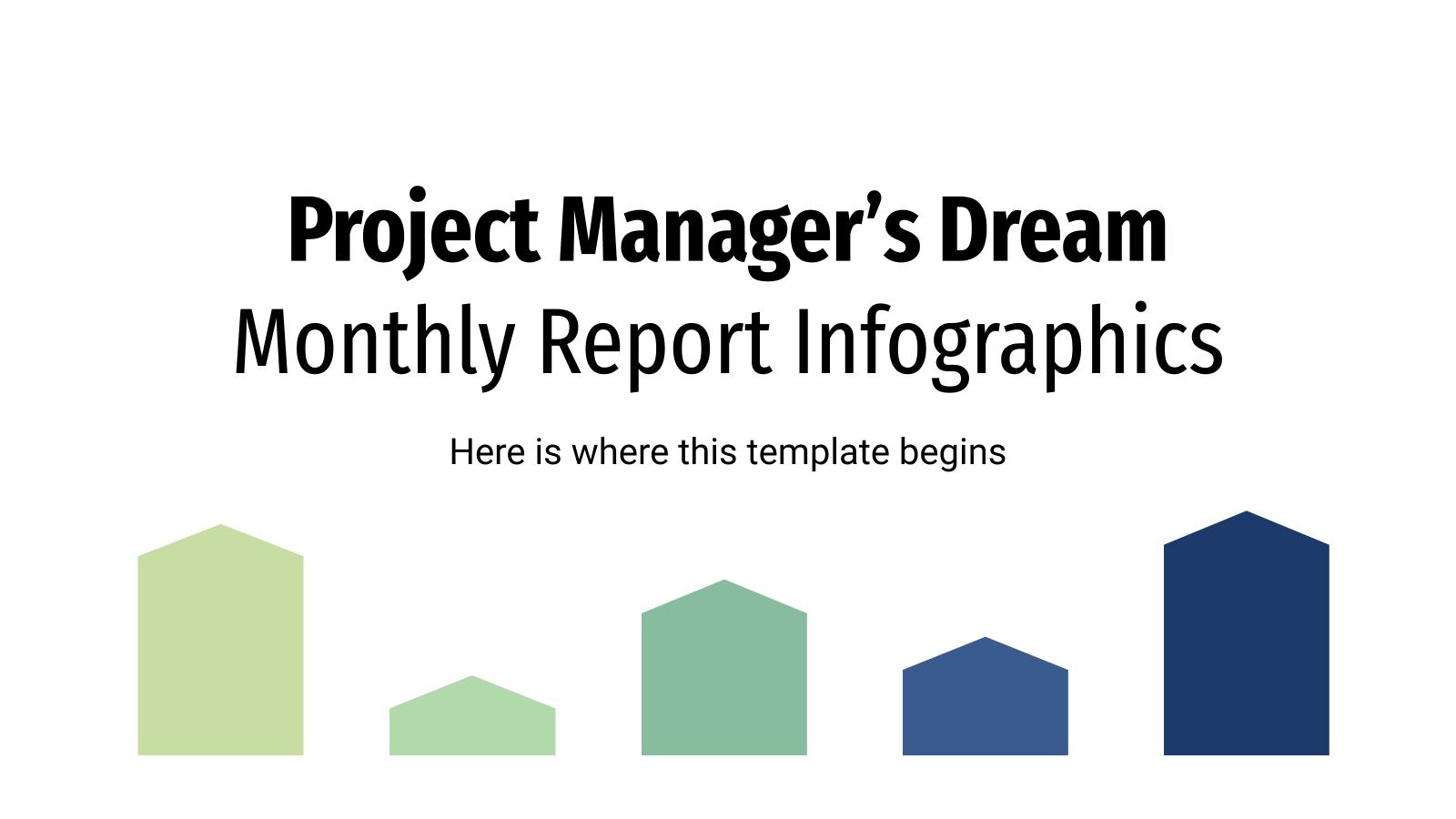 Plantilla de presentación Infografías para informes mensuales