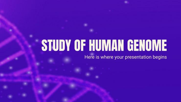 Plantilla de presentación Estudio del genoma humano