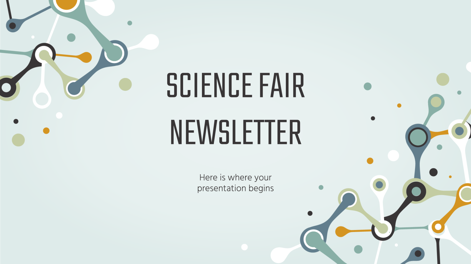 Science Fair Newsletter presentation template