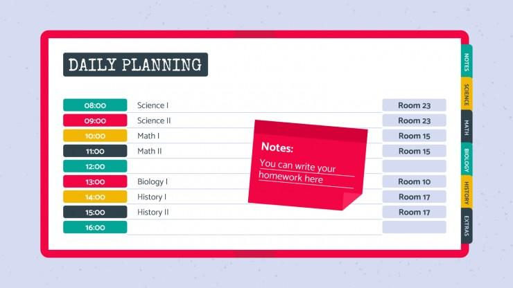 Modelo de apresentação Agenda Visimi para estudantes