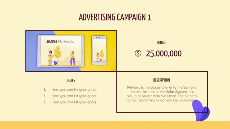 Yellow Day Campaign presentation template