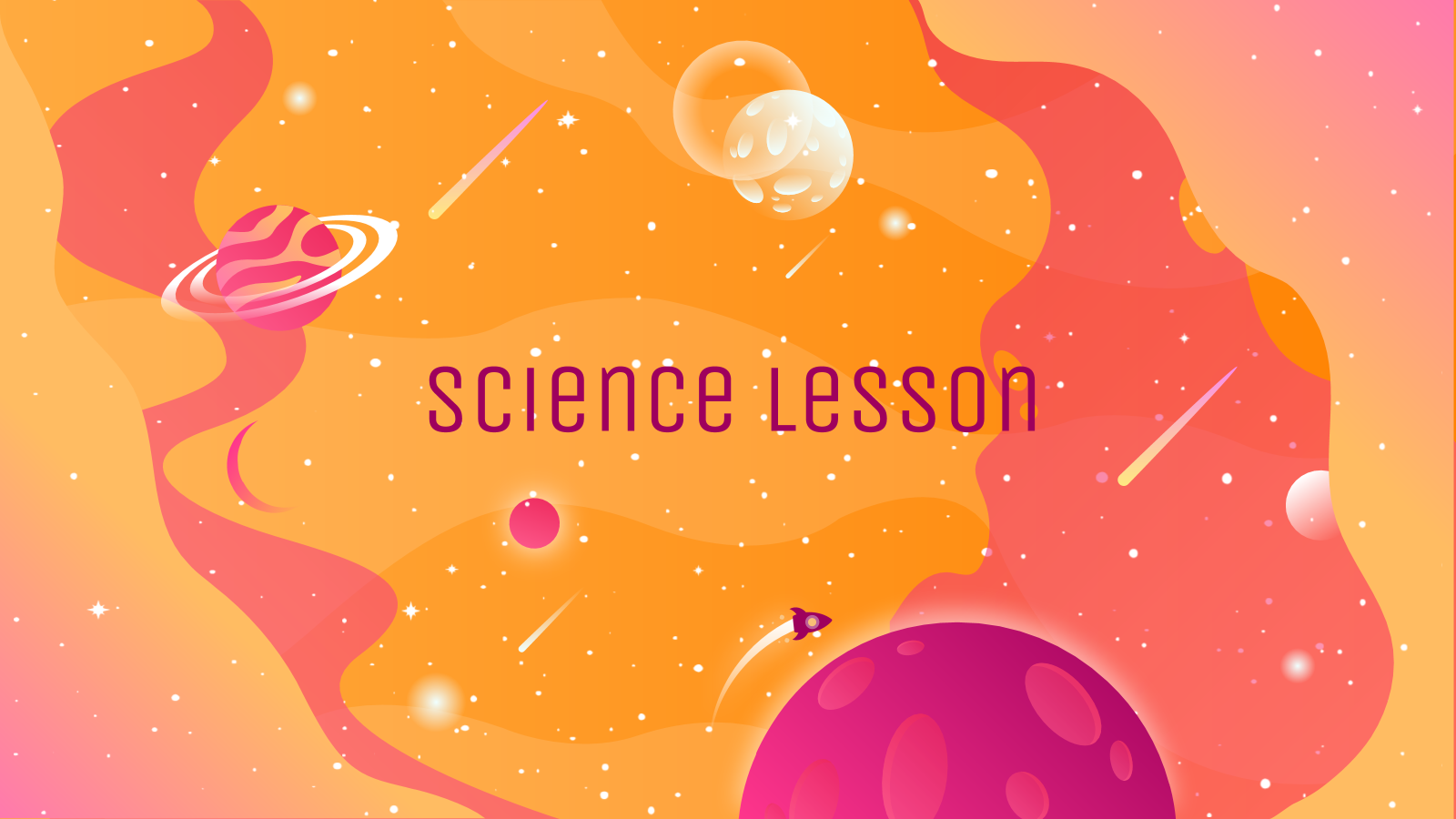 Science Lesson presentation template