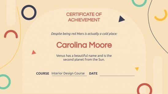 Mutural Certificate presentation template