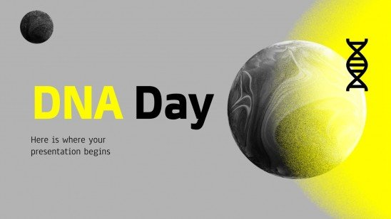 DNA Day presentation template