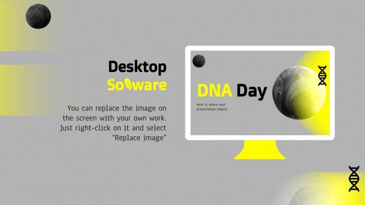 Plantilla de presentación Día del ADN