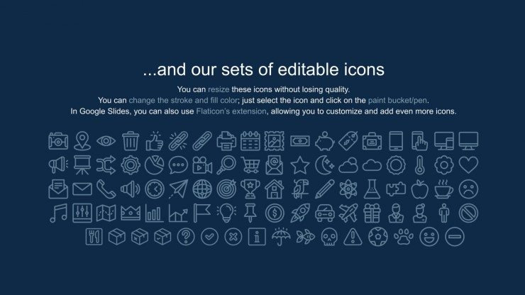 Trending Serif Font Newsletter presentation template