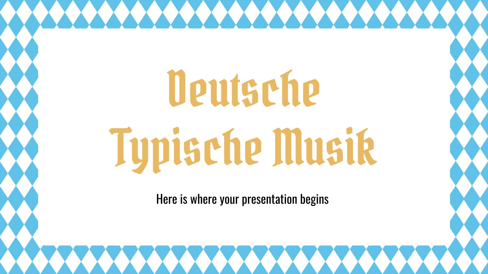 Deutsche Typische Musik Präsentationsvorlage