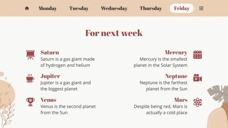 Modelo de apresentação Agenda semanal Lative