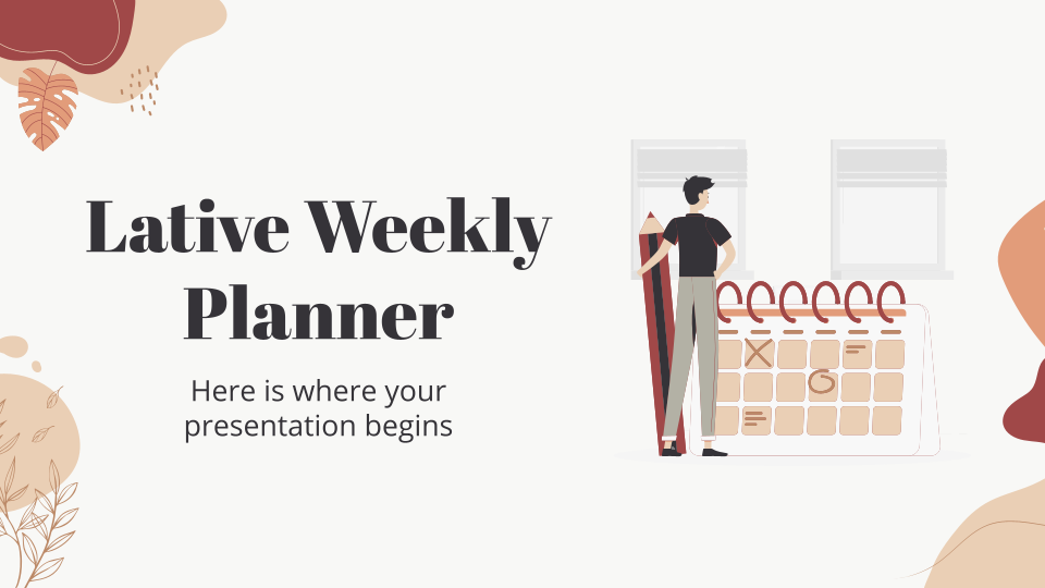 Lative Weekly Planner presentation template