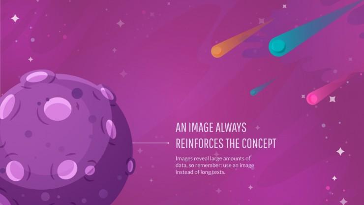 Modelo de apresentação Galáxia colorida