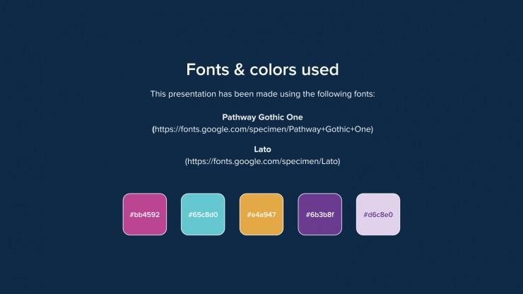 Colorful Galaxy presentation template