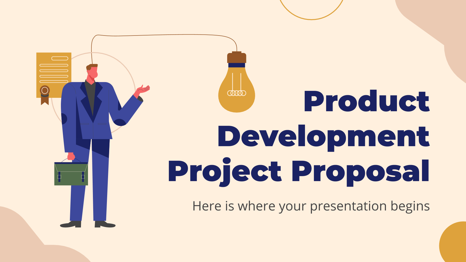 Product Development Project Proposal presentation template