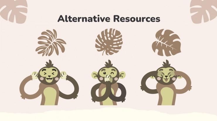 Monkey Mood Newsletter presentation template