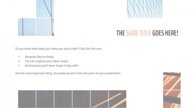 Finances Theme Grid presentation template
