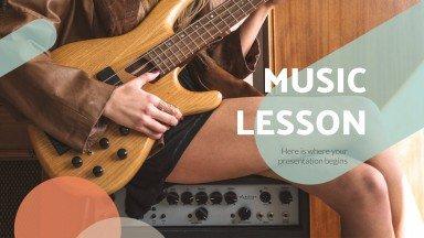 Plantilla de presentación Lección de música