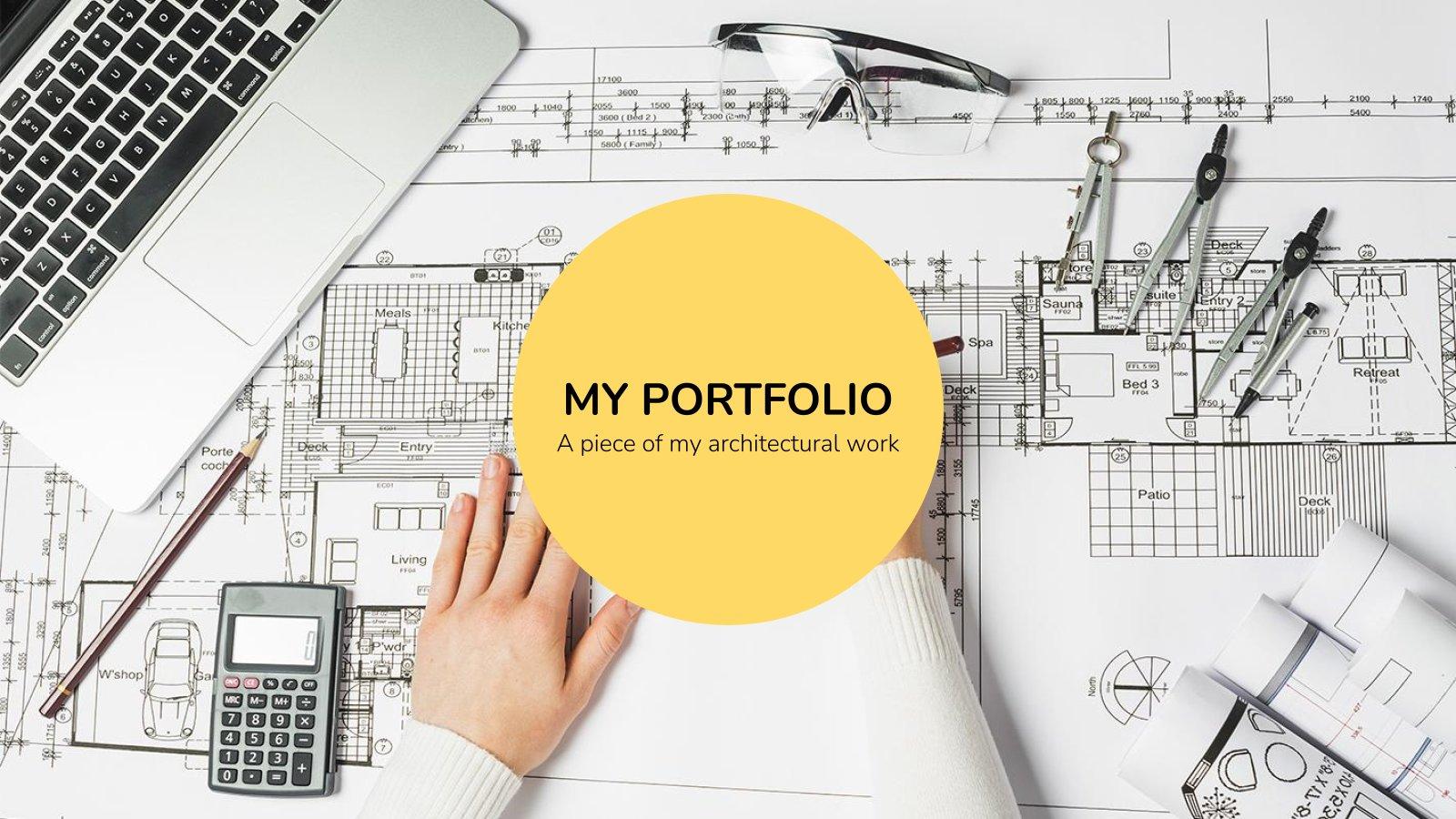 Architecture Portfolio presentation template