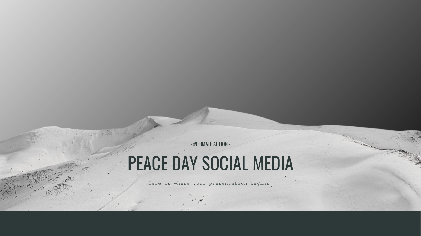 Peace Day Social Media presentation template