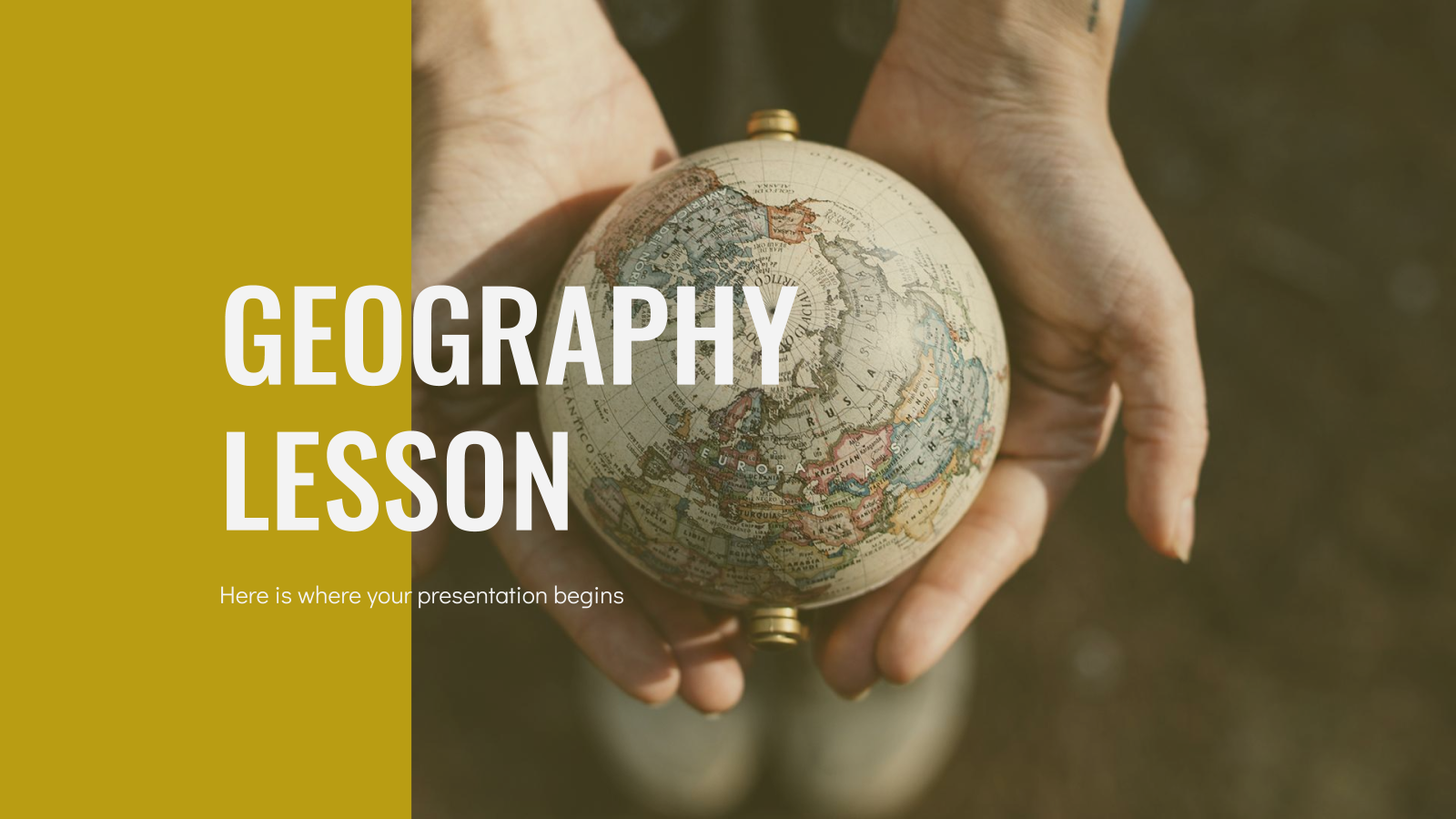 Geography Lesson presentation template