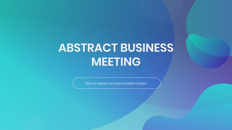 Abstract Business Meeting presentation template