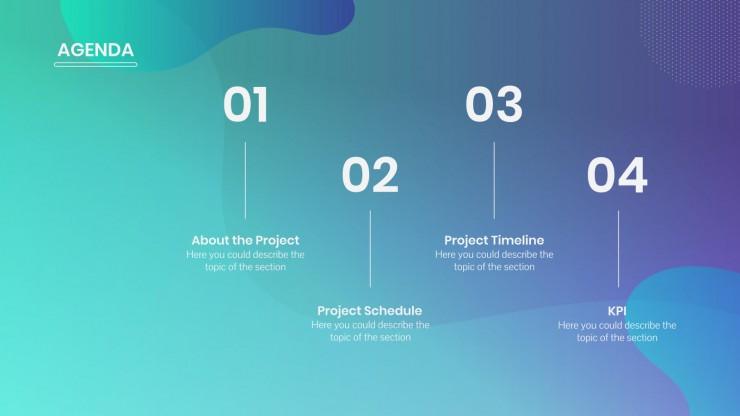 Plantilla de presentación Diseño abstracto para reuniones