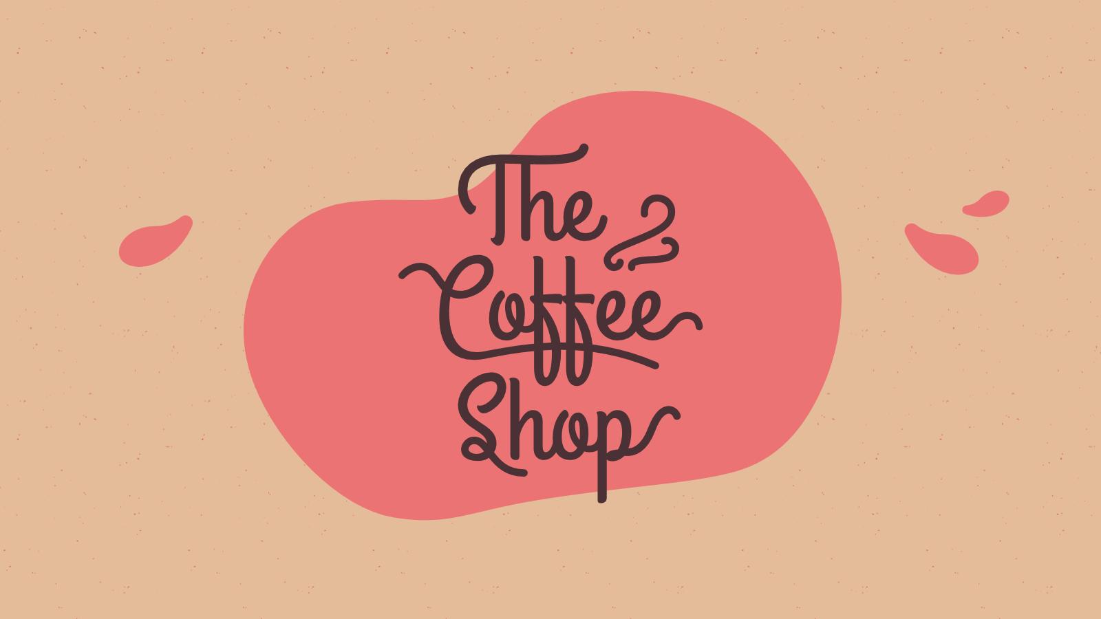 Marque Coffee Shop : Modèles de présentation