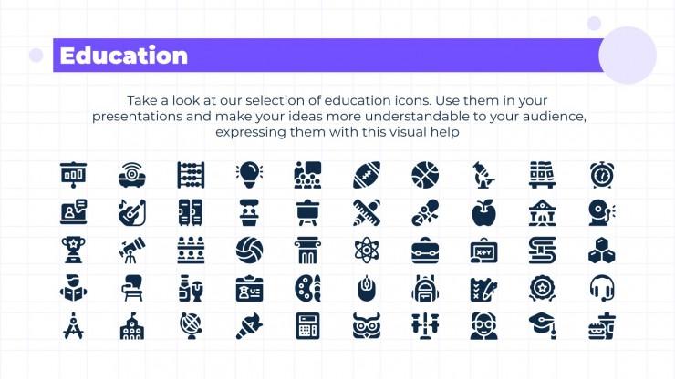 Modelo de apresentação Recursos de ícones