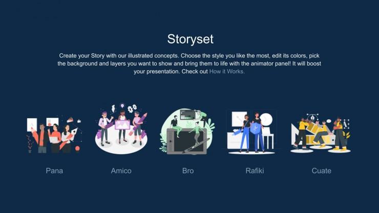 Retro Virtual Love App presentation template