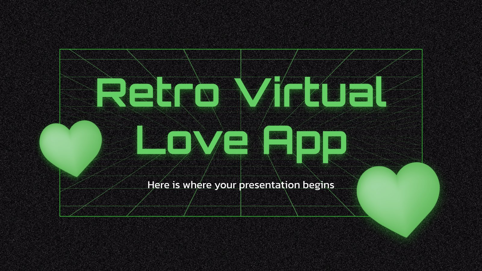 Retro Virtual Love App presentation template