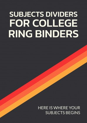 Subjects Dividers for College Ring Binders presentation template