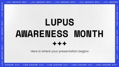 Lupus Awareness Month presentation template