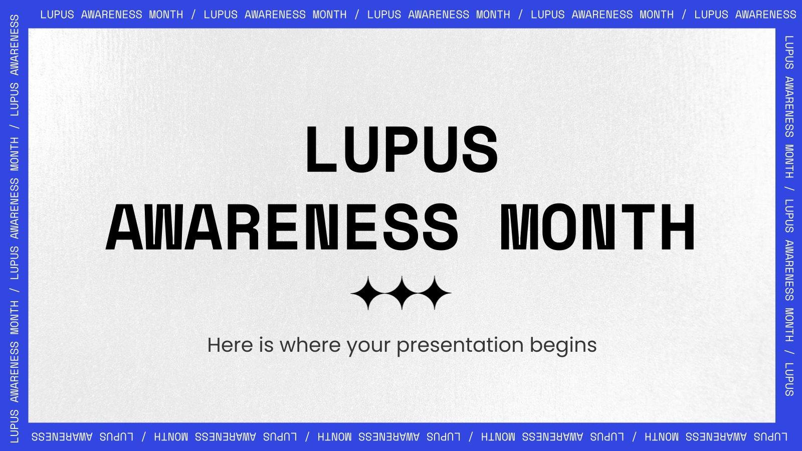Mois de sensibilisation au lupus : Modèles de présentation