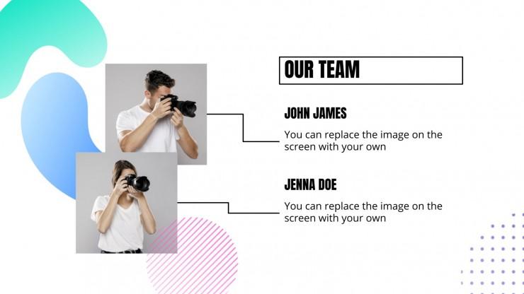 Modelo de apresentação Mês da fotografia