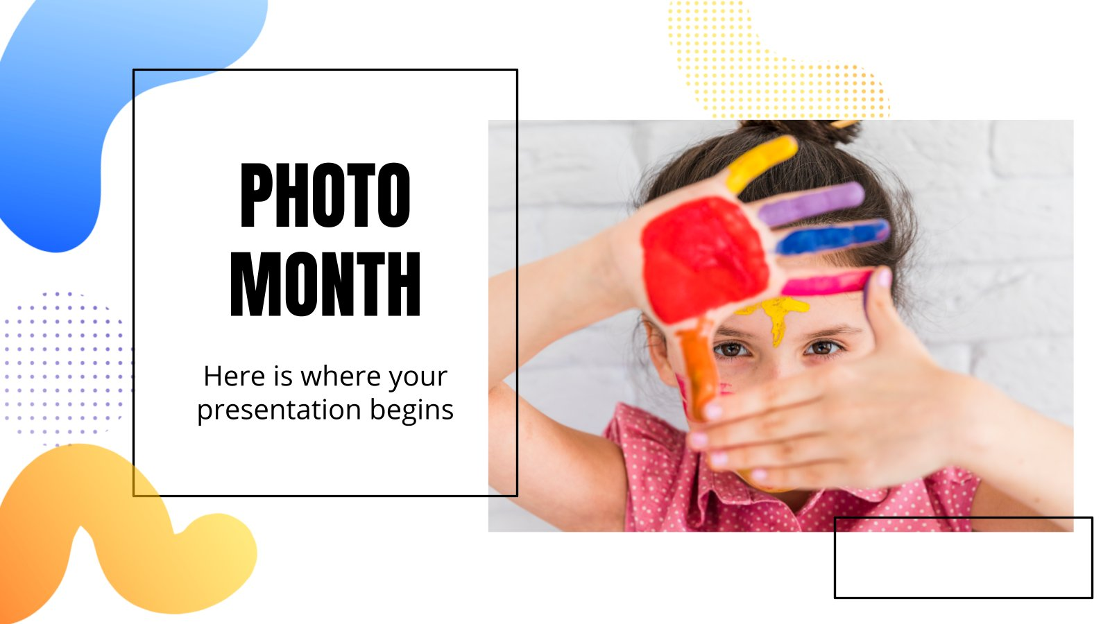 Photo Month presentation template