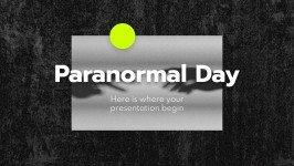 Modelo de apresentação Dia do Paranormal